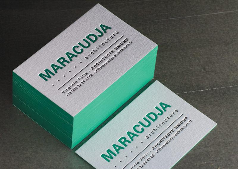 Cartes De Visite MARACUDJA Architecture Impression