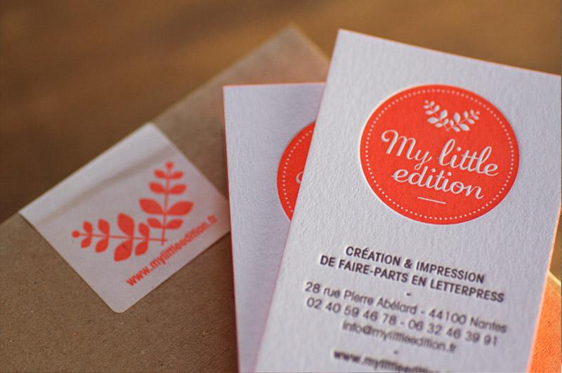 Carte De Visite Letterpress House Of Press
