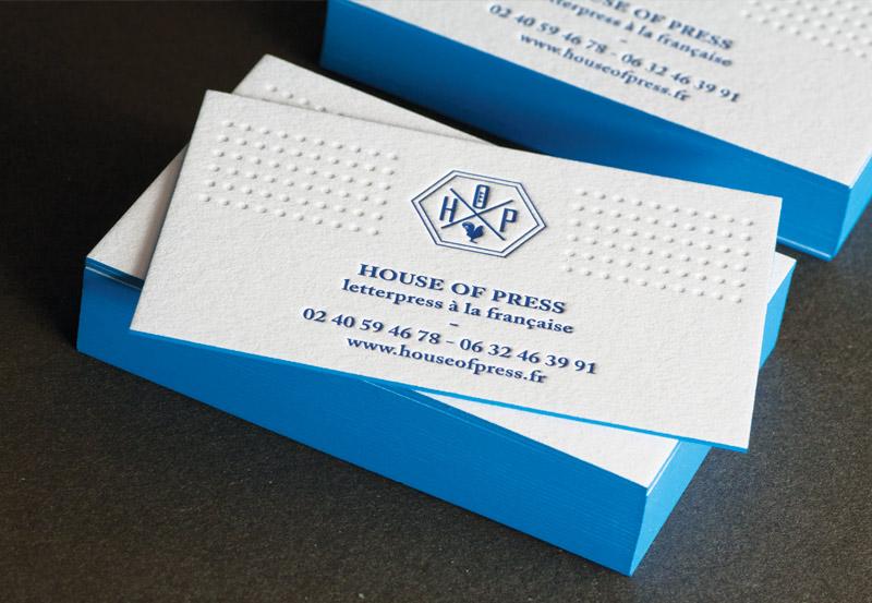 Impression Cartes De Visite Letterpress 1 Couleur