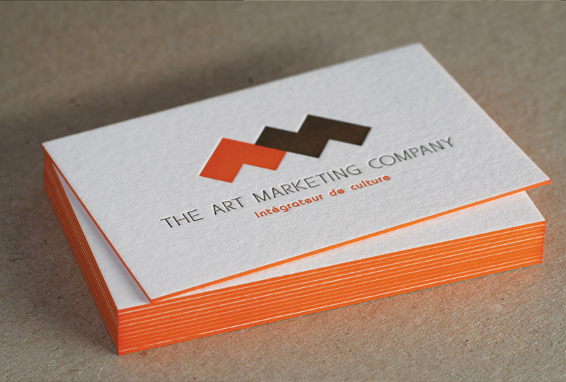 Cartes De Visite Letterpress THE ART MARKETING COMPANY Impression
