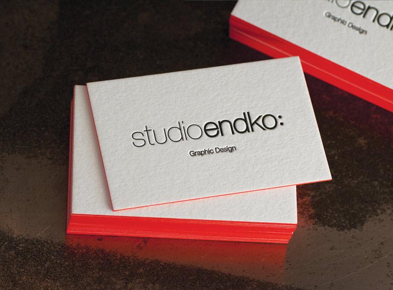 Cartes De Visite Letterpress Studio ENDKO Suisse Impression