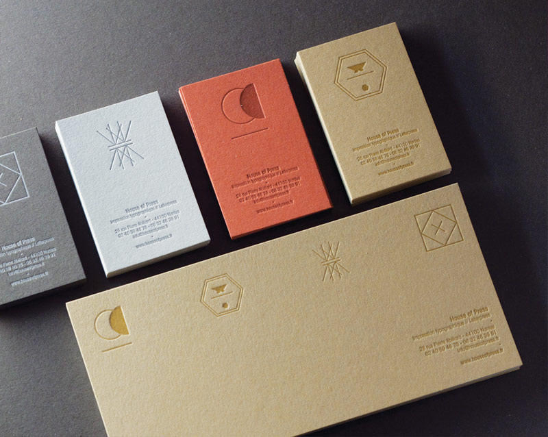 Cartes De Visite Letterpress House Of Press Impression