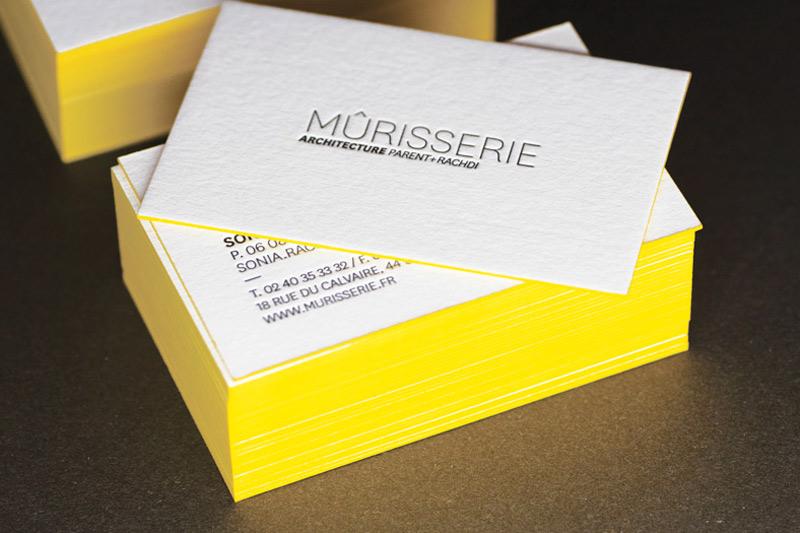 Préférence Cartes de visite letterpress – Mûrisserie Parent+Rachdi House of Press PJ51