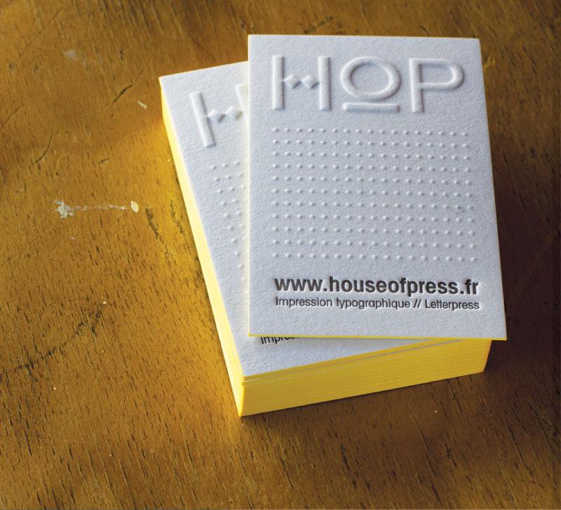 CARTES DE VISITE LETTERPRESS HOUSE OF PRESS