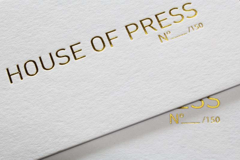 CARTE DE VISITE LETTERPRESS DORURE A CHAUD Impression