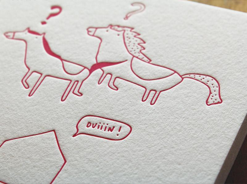 Connu faire-part naissance letterpress House of Press EN98
