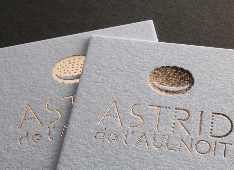 Carte De Visite Letterpress Astrid De Laulnoit House Of Press