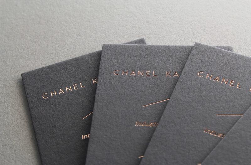 Carte De Visite Letterpress Industrial Design CHANEL KAPITANJ