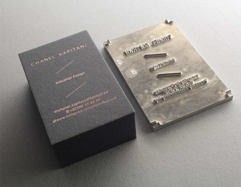 Carte De Visite Letterpress Industrial Design CHANEL KAPITANJ Impression