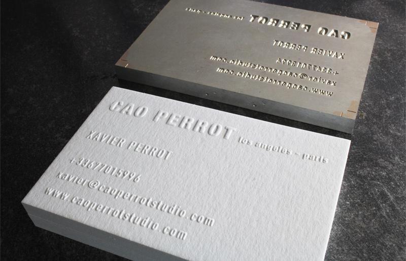 Carte De Visite Letterpress CAO PERROT