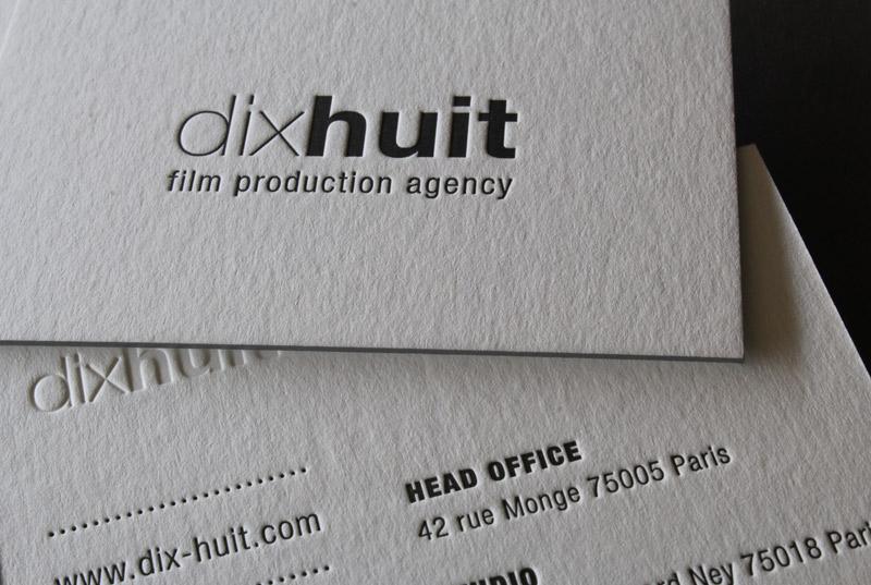 Carte De Visite Letterpress DIX HUIT Impression Cartes