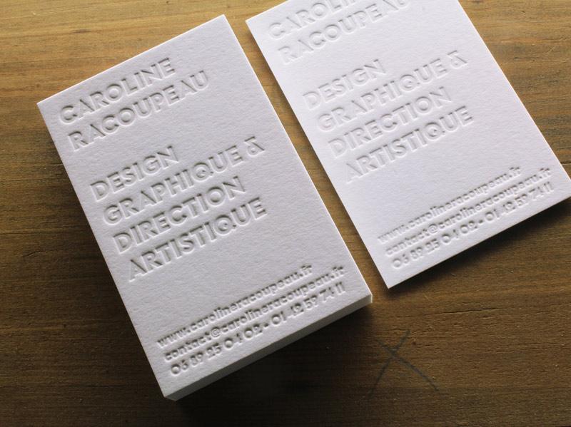 Carte De Visite Letterpress Designer Graphique Caroline Racoupeau