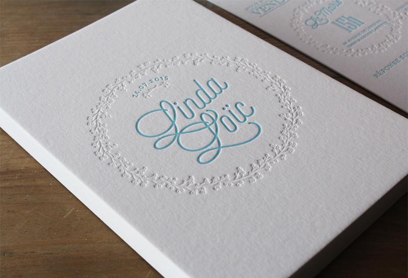 faire part mariage letterpress
